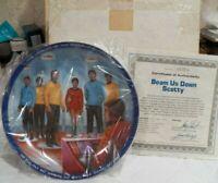 1983 USS Enterprise Star Trek Beam Me Down Scotty Collector Plate COA IOB