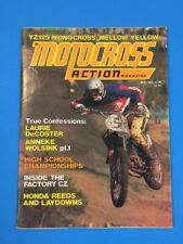MOTOCROSS ACTION MAY 1975 YAMAHA YZ125 CARLSBAD SADDLE BACK CZ250 RICHMOND CA