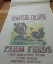 RL-82 BARNYARD FRIENDS Flour Bag Sack Feed Seed  Novelty Collectible