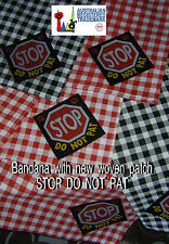 assistance dog Bandana with woven patch DO NOT PAT red & white