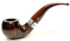 Peterson Harp Sterling Silver Mounted Apple Bent Pipe (03)