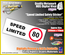 Speed Limited 80 Speed Safety Sticker - Truck, Semi Trailer, Transport Industry