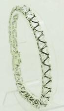 """Sterling Silver 925 15.00ctw Trillion Cut Cubic Zirconia Tennis Bracelet-8.5"""""""
