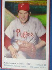 Robin Roberts, Philadelphia,  ArtCard #59 - Baseball card  of HOF player c.1950s