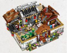 4 In 1 Courtyard House LOZ Blocks Chinese Mini Street Building Cloth Herb Shop