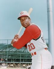 REDS YOUNG HALL OF FAME GREAT FRANK ROBINSON COLOR 8x10 PHOTO A