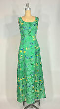 Vintage 1950s-60s Henri Bendel Green silk brocade maxi dress & Artbag purse set