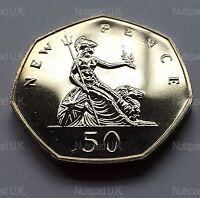 1972 Proof Fifty Pence Uncirculated 50p Coin Rare