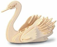 SWAN Woodcraft Construction Kit - BIRD 3D Wooden Model Puzzle For KIDS/ADULTS