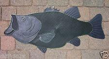L.I. Door Mat Largemouth Bass Doormat Fresh Water, Lunker Fish, Bassmasters New