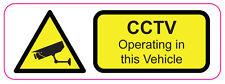 Cctv operan en este vehículo-coche/van/Camión/carro/Seguridad X 2.