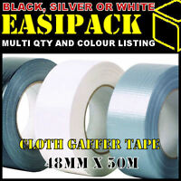 GAFFER GAFFA DUCK DUCT WATERPROOF CLOTH TAPE 48MM x 50M METRE ROLL