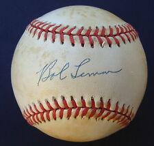 BOB LEMON Signed Auto Baseball MLB HOF
