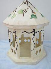 "12"" Ivory w/ green leaves Gazebo Centerpiece. Wedding Home Decor Table Topper"