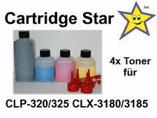 (9,49 EUR/100 g) 4x Refill Toner für Samsung CLP 320 325 CLX 3180 3185