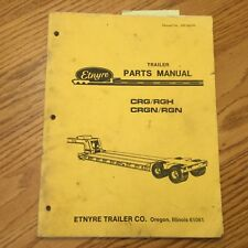 Hyster Etnyre TRAILER PARTS MANUAL FLAT BED LOW BOY HYD DETACHABLE GOOSENECK