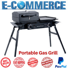 Luxury & Portable Gas Bbq Tailgater Grill With Burner & Griddle Outdoor Cooking