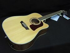 Washburn HD10SCE Natural Gloss Acoustic Electric Guitar Professionally Set Up!