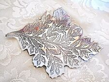 Collectible Stainless Steel Metal Leaf Shaped Soap Dish