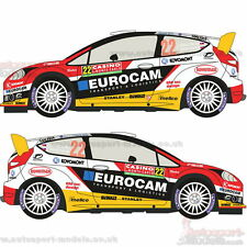 1/24 2014 Ford Fiesta WRC #22 Monte Carlo Rally decal set by Racing Decals ~ 016