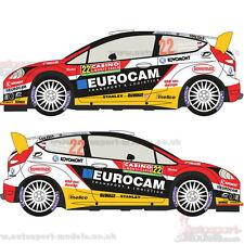 1/24 2014 Ford Fiesta WRC #22 Monte Carlo Rally calcomanías de calcomanía establecidas por Racing ~ 016