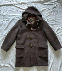 Vintage Gloverall Duffle Coat Brown Size 42 Detachable Hood