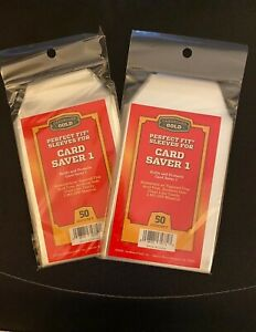 BRAND NEW 50 CT Cardboard Gold Perfect Fit Sleeves For Card Saver 1