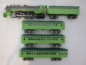"AMERICAN FLYER PRE-WAR ""O"" STREAMLINER 1936 w/4-RAIL WHISTLE-REPAINT-FREE SHIP!"
