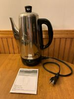 Hamilton Beach 4-12-Cup Electric Percolator Coffee Pot 40616 Stainless Steel