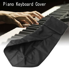 88 Key Electronic Piano Keyboard Dust Cover Cord Clasp Stretchable Black