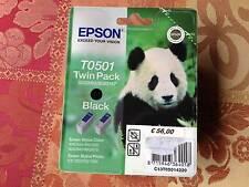TWIN PACK EPSON T0501 NERO DOPPIA CARTUCCIA NUOVO S020093 S020187
