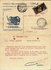 REGNO-30c X ANNUALE(330)-Cartolina CERERE MACCHINE AGRICOLE-22.1.1934