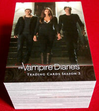 VAMPIRE DIARIES: Season 3 - COMPLETE BASE SET (72 Cards) - Cryptozoic 2014