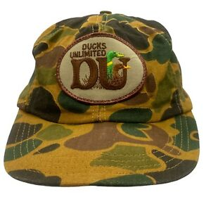 Ducks Unlimited - Vintage Adjustable Snapback Camo Hat Cap