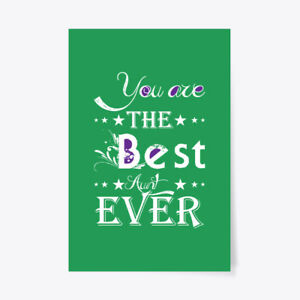 "Aunt The Best Ever Gift Poster - 24""x36"""
