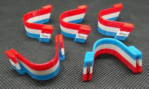 Clip / pince nez anti buée lunette pour masque Bleu-Blanc-Rouge - lot de 5