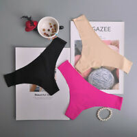 Women Sexy Panties Ice Silk Thongs G-string Lingerie Low-Rise Seamless Underwear