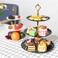 Cupcake Stand 3 Tier Cake Dessert Wedding Event Party Display Tower Plate  US