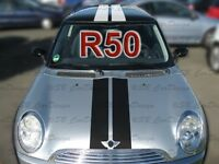 Viper-Streifen Aufkleber Rally Stripes f. BMW MINI COOPER R50 One Works Union GP