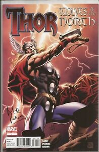 THOR: WOLVES OF THE NORTH #1 - SIGNED MIKE PERKINS - WITH DF COA 63/125