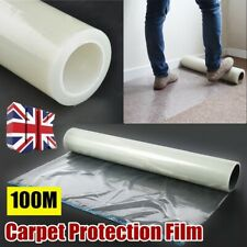 100M Carpet Protector Self Adhesive Floor Clear Roll Protection Cover Dust Film