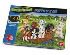 Paul Lamond Games Glow in the Dark Puppies Jigsaw Puzzle 100pc
