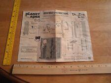 1974 Planet of the Apes Dr. Zira Addar model kit instructions only HTF