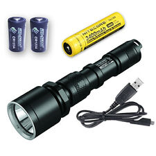 Nitecore MH25GT Rechargeable Flashlight -1000Lm w/NL189 & 2x CR123A Batteries