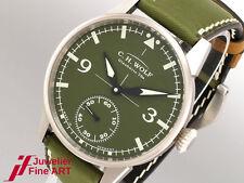 C. H. Wolf Glashütte Pilot Green Handaufzug Uhr Ø 45 mm UVP: 2.450,-€ jetzt -50%