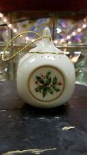 Vintage Lenox Hand Painted 24K Gold Holly and Berries with Fragrance Sash Inside