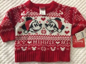 Infant Girls' 3-6 Month Minnie Mouse Christmas Sweater by Disney-NEW WITH TAGS!