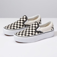 Vans Slip On Platform Checkerboard Black / White VN00018EBWW $55