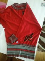 Harajuku Lovers by Gwen Stefani Lovers Thermal Sweater Tunic Red Small
