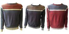 Crosshatch Mens Designer Crew Neck Fleece Sweatshirt Jumper Smart Casual Top